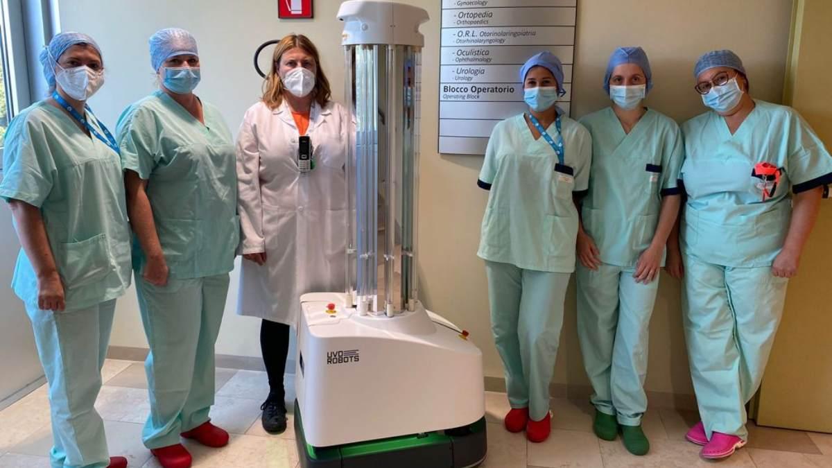 Un robot per la sanificazione degli ambienti in Ospedale