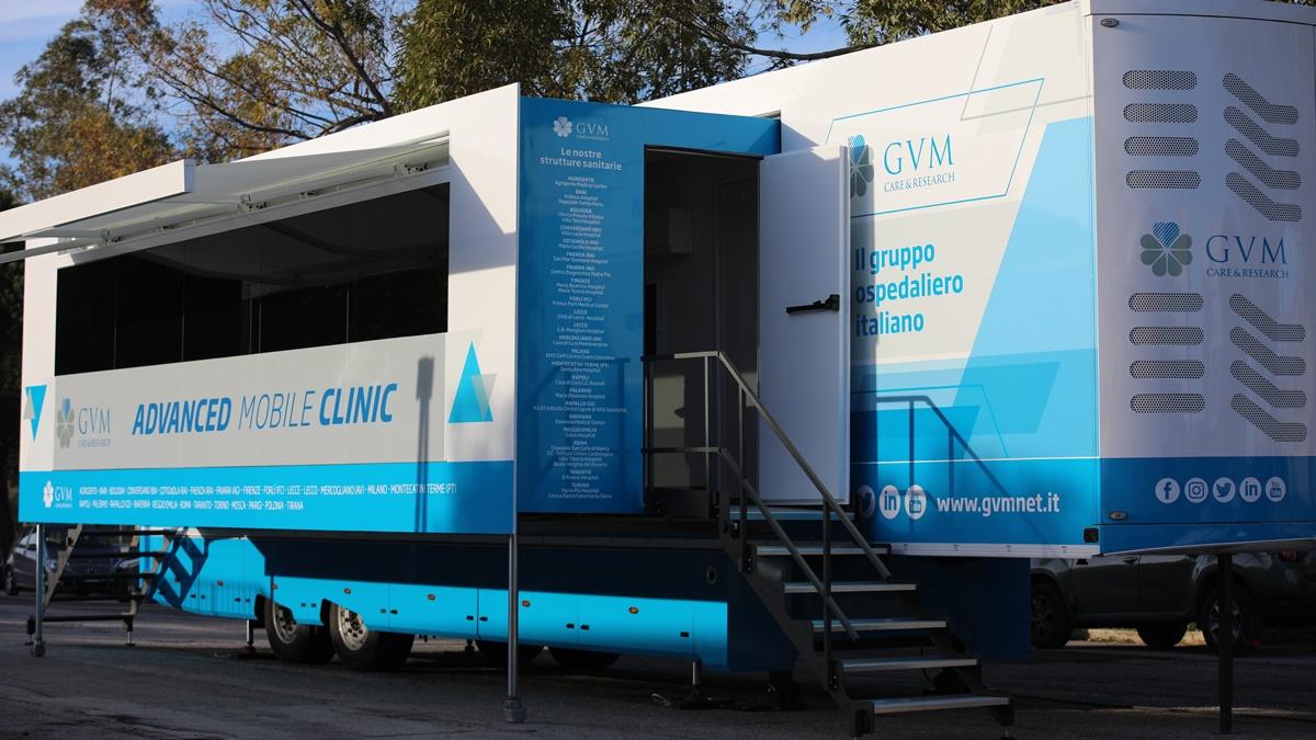 La clinica mobile di GVM a Lecce per screening gratuiti di prevenzione