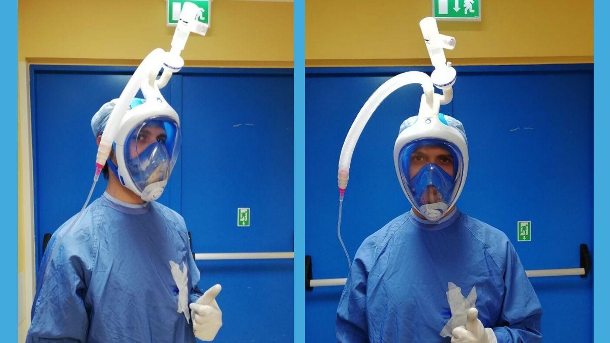 Maria Pia Hospital è il primo ospedale in Piemonte a dotarsi di maschere da snorkeling trasformate in respiratori