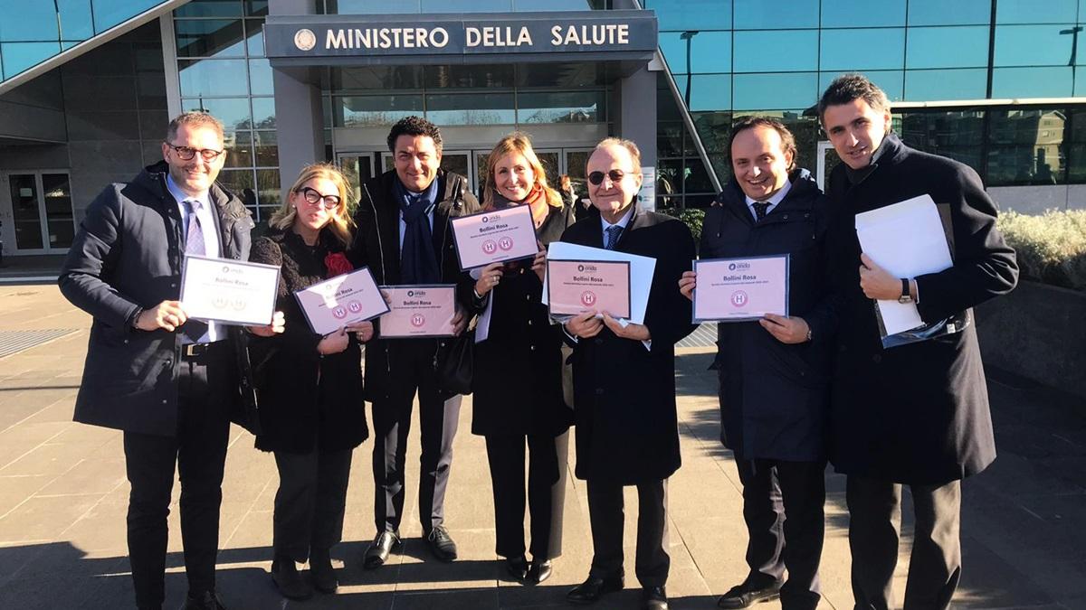 Gli Ospedali GVM Care & Research premiati con 8 Bollini Rosa: il riconoscimento di Fondazione Onda per i servizi dedicati alla salute della donna